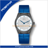 L'usine a fourni à la montre unisexe à extrémité élevé existante d'acier inoxydable la tête de courroie de peau