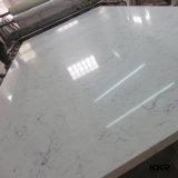 3/4 Quartz artificiel blanc de Carrare dalle de pierre pour carrelage de sol (Q170810)