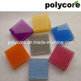 多彩な反紫外線ポリカーボネートの蜜蜂の巣のパネル