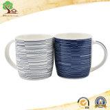 青いコーヒー・マグの卸売14のOzのCustomied Logo著陶磁器の新しい骨灰磁器のマグ