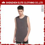 Vestuário de moda Fitness masculina camisetas poliéster algodão (ELTVI-7)