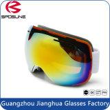 新しい男女兼用のスノーボードのスキースキーゴーグルガラス二重レンズAnti-Fog紫外線Eyewear