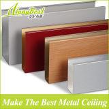 Потолок дефлектора деревянного цвета 2017 шипучек алюминиевый