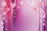 Peinture à l'huile à la maison de décoration avec le modèle pourpré romantique de configuration de fleurs