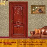 Твердая древесина высекая дверь конструкции античную (GSP2-016)