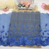 結婚式の人形の服のアクセサリの服装ファブリック卸売19cmの幅の刺繍のオーガンザの女性の下着の衣服のための花嫁の網のレース及びホーム織物及び寝具