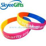 Kundenspezifische Firmenzeichen-Armband-Silikon-Armbänder