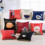 高品質の厚い綿のリネンデジタルによって印刷されるクッションカバー投球枕箱