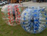 屋外の人間によって大きさで分類される膨脹可能な気が狂ったサッカーの泡球の泡サッカーのフットボールの価格D5007