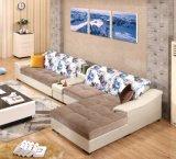 Moda auténtica cama modernos muebles de sala
