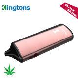 La bobina 0.6ohm Kingtons 0,3G el volumen del tanque negro de la ventana de hierba seca vaporizador con 2200mAh