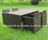 Pátio de lazer Outdoor Dining Furniture Rattan Bar Set