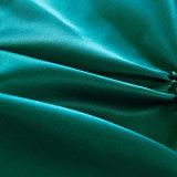 Jogo de seda escovado à moda decorativo ajustado do fundamento do cetim de Microfiber da tampa original do Duvet de Pintuck do plissado do Pinch