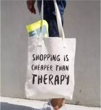 Wholesale Screen Print Durable Canvas Cotton Tote Carry Bags (FLA-9748)
