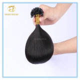 Kundenspezifisches Spitze-Extensions-Haar der Farben-Qualitäts-#1b natürliches schwarzes doppeltes gezeichnetes U mit Fabrik-Preis Ex-050