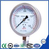 オイルが付いているすべての真鍮のVibration-Proofシリコーンの圧力計の圧力計