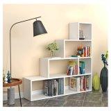 Wohnzimmer-Studien-Ausstellungsstand-hölzerner Bücherregal-Geräten-Würfel-Bücherschrank