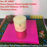 4mm DarkローズBevel Glass Mirror Candle Holder