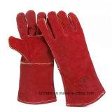 Коровы Split кожа промышленных рабочих долго ручной сварки перчатки