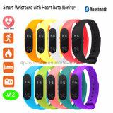 건강 모니터 M2를 가진 Bluetooth 가장 새로운 다채로운 지능적인 팔찌