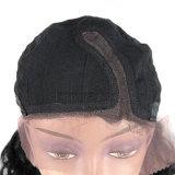 Парики волос Non-Remy бразильские курчавые длинние для парика 100% фронта шнурка человеческих волос дюйма #1 чернокожих женщин 14