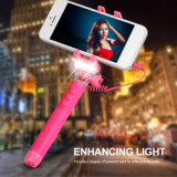 New Monopod Selfie Stick com lanterna LED (rk-mini4)