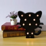 Super Cute пластиковые Cat LED ночное освещение в салоне