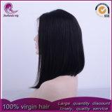 Nuevo estilo de cabello virgen peruana recta mediano de encaje frontal peluca