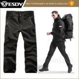 Pantalones tácticos impermeables respirables que acampan de la caza al aire libre de los hombres negros