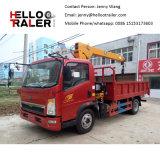 Lumière Sinotruk Cargo chariot avec XCMG Livre 2 tonne grue télescopique