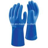 Двойным покрытием PVC песчаных готово руки защитные перчатки