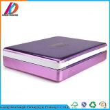 Rectángulo cosmético del Hardcover de cuero púrpura de la PU con el bloqueo