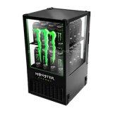 Petit réfrigérateur en verre clair commerciale en noir ou couleur spéciale