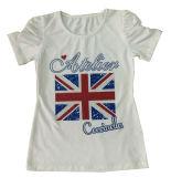 T-shirt entier de fille de papillon de vente, beaux vêtements Sgt-081 d'enfants