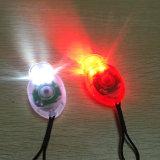 3 l'indicatore luminoso della bici di modo 2PCS/Pair ha impostato la lampada d'avvertimento di sicurezza bianca rossa di colore dei 2 LED per il casco corrente della bici