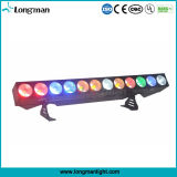DMX 12PCS 25W Rgbaw 5in1 옥수수 속 LED 단계 곁눈 가리개 빛