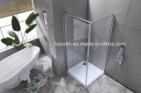 8mmの1つの固定ガラスおよび1の折るガラスとのガラスシャワー機構