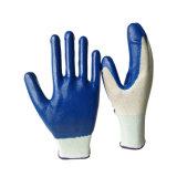 Гибкий удобный полиэфир с перчатками нитрила Coated