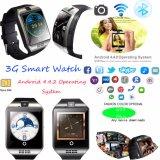 Download 3G/WiFi Apps wasserdichte intelligente Uhr mit Kamera Q18plus