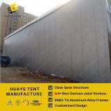 Tente de stockage industriel temporaire avec mur Sandwich