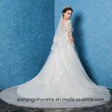 Vestido de casamento Backless elegante bonito do Applique do vestido de casamento
