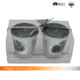 Placcare ed il laser incide il supporto di candela di vetro con spruzzo all'interno in casella dell'animale domestico