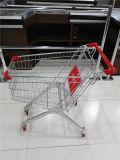 Het Vierwielige het Winkelen van de Supermarkt van het Metaal Karretje van uitstekende kwaliteit