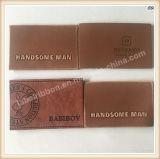 Модной значок Brown кожаный выбитый заплатой изготовленный на заказ кожаный