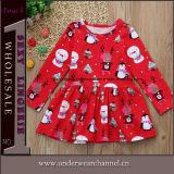 Boutique Bebê Meninas Natal impresso vestuário para crianças crianças vestir roupas