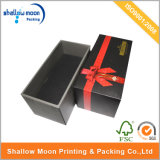 Подгонянное Rigid Black Gift Paper Box с Ribbon (QYZ262)