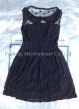 Ballen Lady Silk Dress Summer Wholesale Used Clothing für Arican Market (FCD-002)