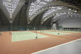 8 de kleur-binnen Professionele Vloer van de Sporten van pvc van het Tennis met de Norm van de Uitvoer