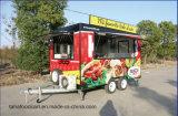 Chariot mobile de nourriture de remorque de nourriture de prix usine faisant cuire la remorque