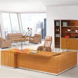 Современный офис зерна из тикового дерева яркий письменный стол (HY-NNH-JT10)